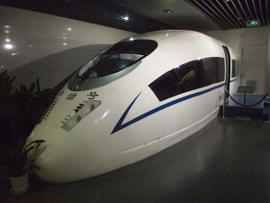 Full size simulator for the high speed driver's EMU.